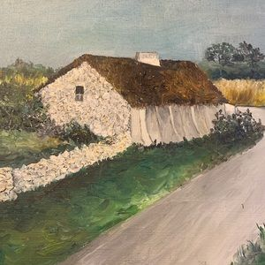 Other - Acrylic Cottage Cotswold Painting Landscape Cute